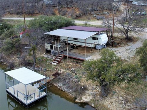 Waterfront Lot At Lake Brownwood : May : Brown County : Texas