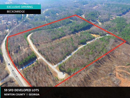 59 Developed Lots Beckonridge : Covington : Newton County : Georgia