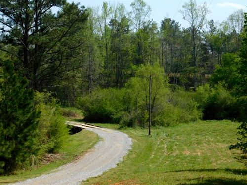 58 Acres With Creek : Fruithurst : Cleburne County : Alabama