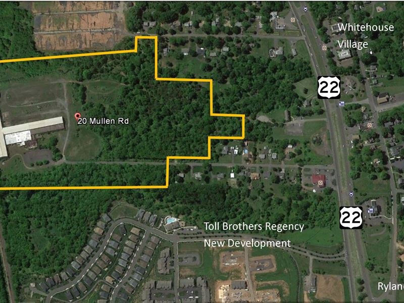 43.94+/- Acre Development Site : Whitehouse Station : Hunterdon County : New Jersey