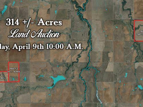 315 Acres In 3 Tracts : Carnegie : Kiowa County : Oklahoma
