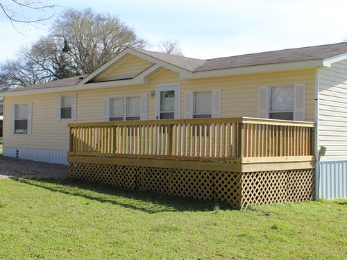 Manufactured Home On 4 Acres : Detroit : Red River County : Texas