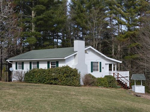 Quaint Home 19.18 Acres Large Pond : Glade Valley : Alleghany County : North Carolina
