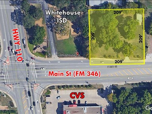 Commercial Land Main Street : Whitehouse : Smith County : Texas