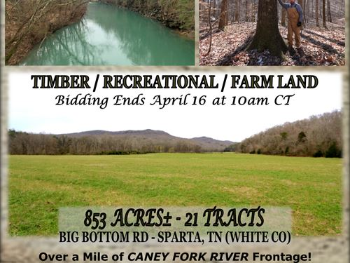 21 Tracts & River Frontage : Sparta : White County : Tennessee