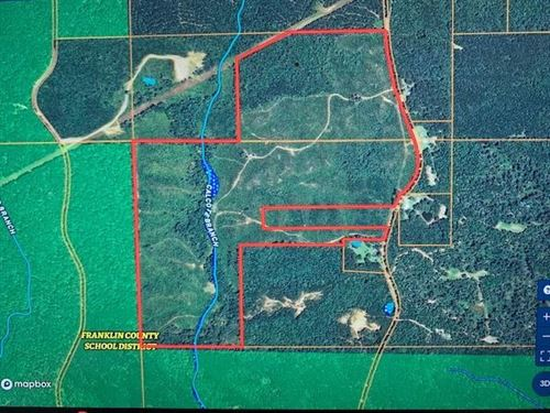 191 Ac Joins Homochitto National : McCall Creek : Franklin County : Mississippi