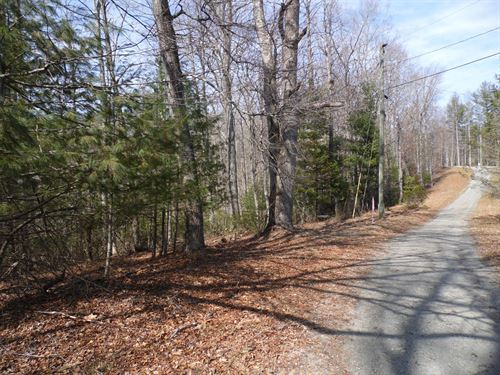 Wooded Building Lot Common Area New : Piney Creek : Alleghany County : North Carolina