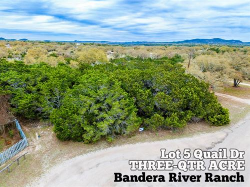 .76 Acres In Bandera County : Bandera : Texas
