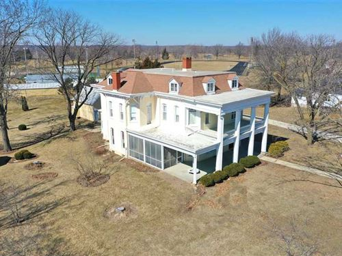 7 BR / 6 BA Grand Home For Sale : Keosauqua : Van Buren County : Iowa