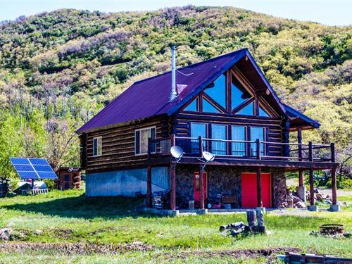 Colorado Off-Grid Mountain Log : Cedaredge : Delta County : Colorado