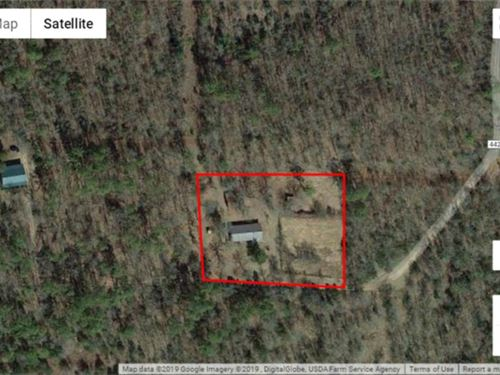 Secluded Rustic Country Lot in Pus : Hugo : Choctaw County : Oklahoma