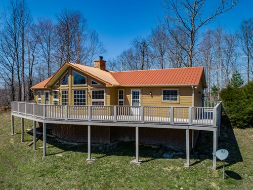 5+ Ac, Rustic Home, Awesome Views : Hilham : Clay County : Tennessee