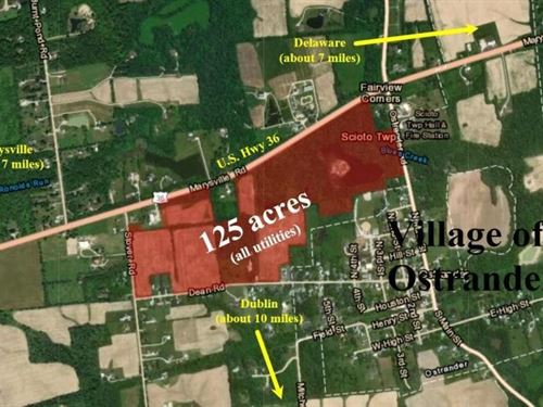 Development Land With Utilities : Ostrander : Delaware County : Ohio