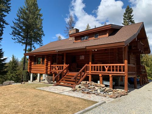 Ultimate Log Home Retreat In Troy : Troy : Lincoln County : Montana