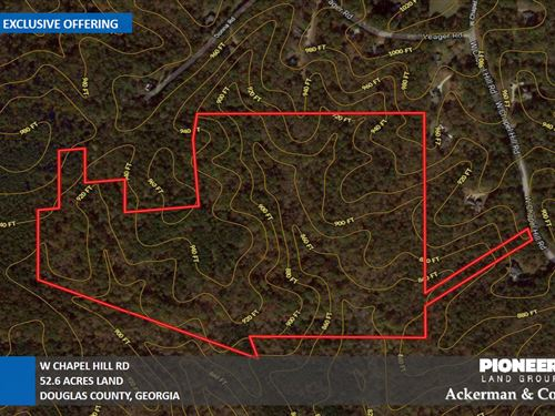 52.6 Acres, W Chapel Hill Road : Douglasville : Douglas County : Georgia