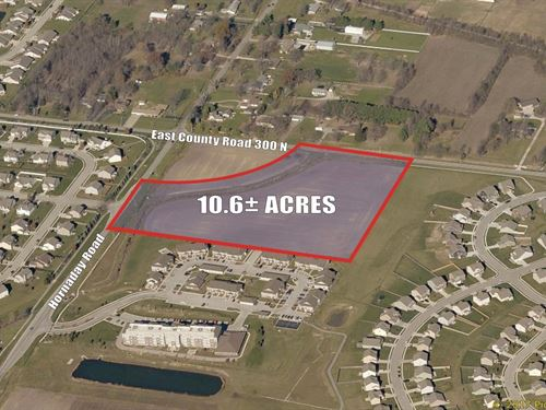 10.6+/- Acres Of Res, Dev, Land : Brownsburg : Hendricks County : Indiana