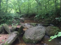 Cool Rock Outcroppings And Creek : Forsyth : Monroe County : Georgia