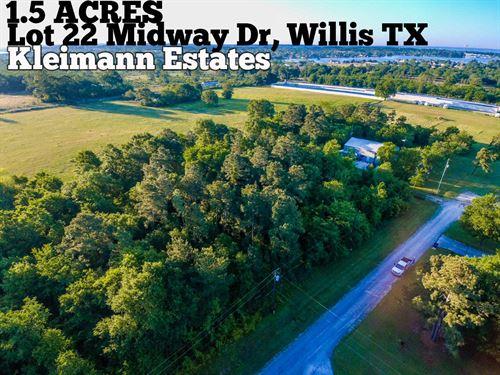1.49 Acres In Montgomery County : Willis : Montgomery County : Texas