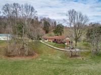 47+ Ac Farm, Brick Home, Pole Barn : Celina : Clay County : Tennessee
