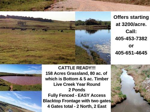 Farms With Ponds : Pocasset : Caddo County : Oklahoma