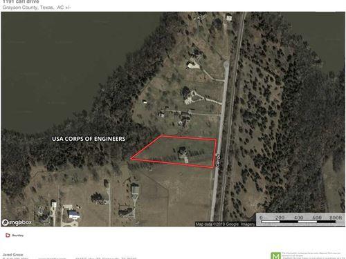 Home on Acreage For Sale Adjacent : Tioga : Grayson County : Texas