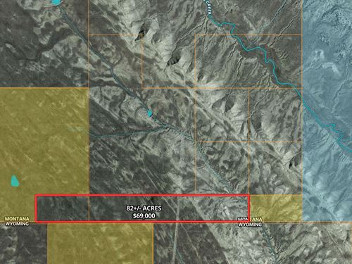 Investment Land, Remote : Bridger : Carbon County : Montana