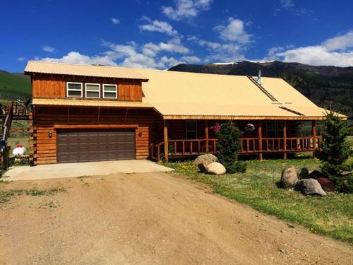Mountain Log Home : Creede : Mineral County : Colorado