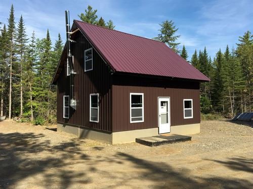 Off-Grid Cabin a Trout Stream Maine : Springfield : Penobscot County : Maine