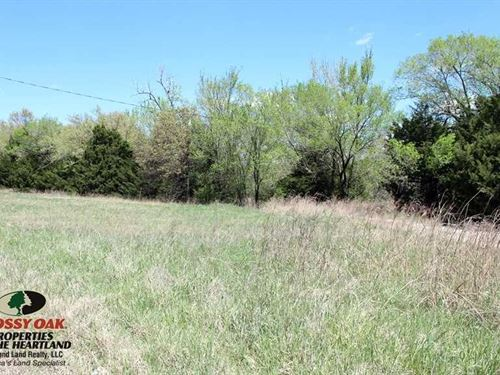 Scenic Building Site Minutes From : Fall River : Wilson County : Kansas