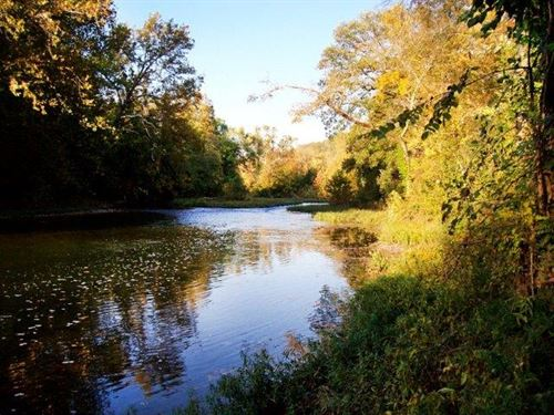 River View And Spring Fed Creek : Highlandville : Christian County : Missouri