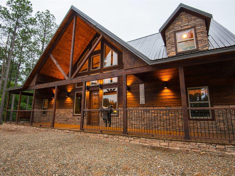 Luxury Log Cabin For Sale Land For Sale Broken Bow