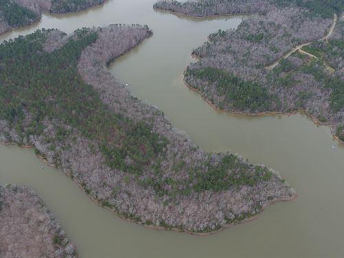 Lake Front Property With Timber : Elberton : Elbert County : Georgia