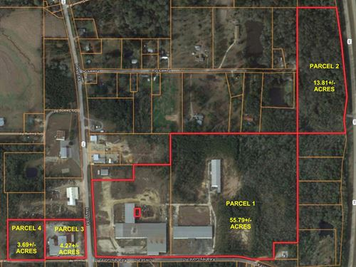 Auction Indust, Whse, Office, Land : Laurel : Jones County : Mississippi