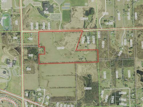 42 Acre Development Land For Sale : Chelsea : Washtenaw County : Michigan