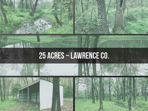 25 Acres Of Level Mixed Use Land : Bois D'arc : Lawrence County : Missouri