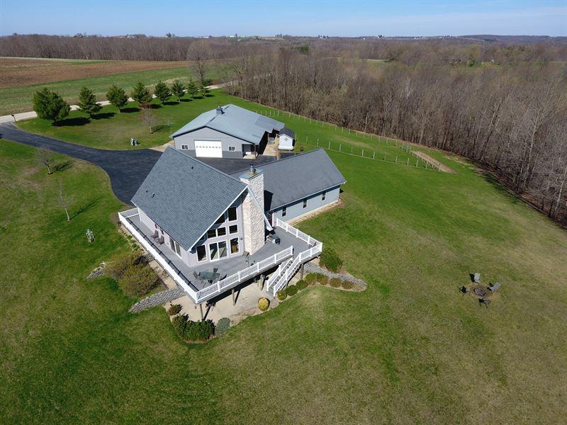 Country Home 45.15 Acres SW : La Farge : Vernon County : Wisconsin