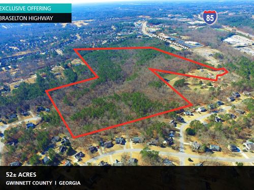 52 Acres Braselton Highway : Buford : Gwinnett County : Georgia