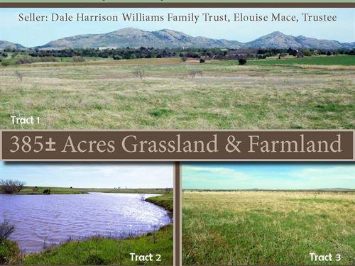 Grass And Farmland, Abundant Water : Cooperton : Kiowa County : Oklahoma