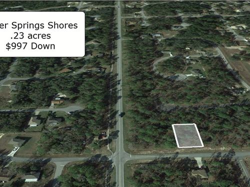 Exclusive .23 Acre Lot On Pave Road : Ocala : Marion County : Florida