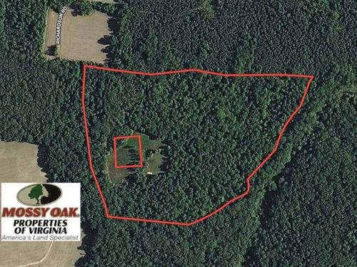 34 Acres of Recreational Land For : Hustle : Essex County : Virginia