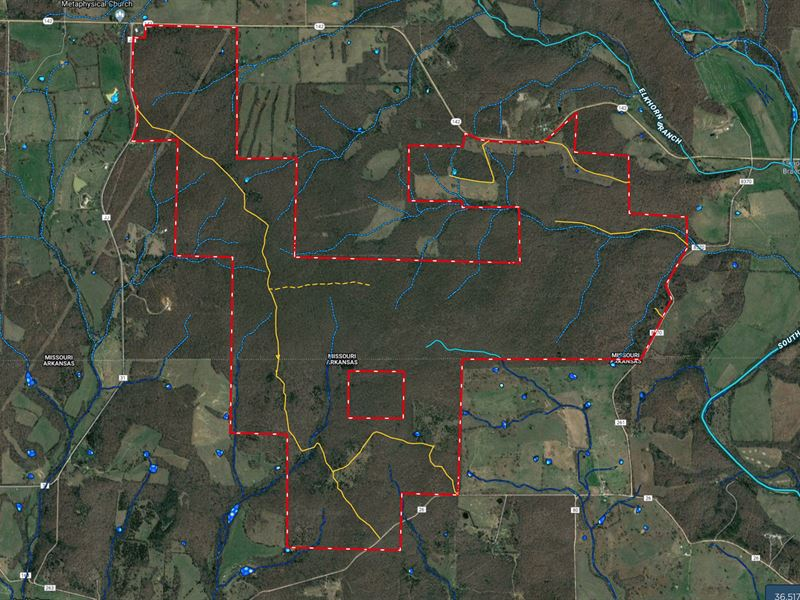 Wooded Acreage In The Ozarks : West Plains : Howell County : Missouri