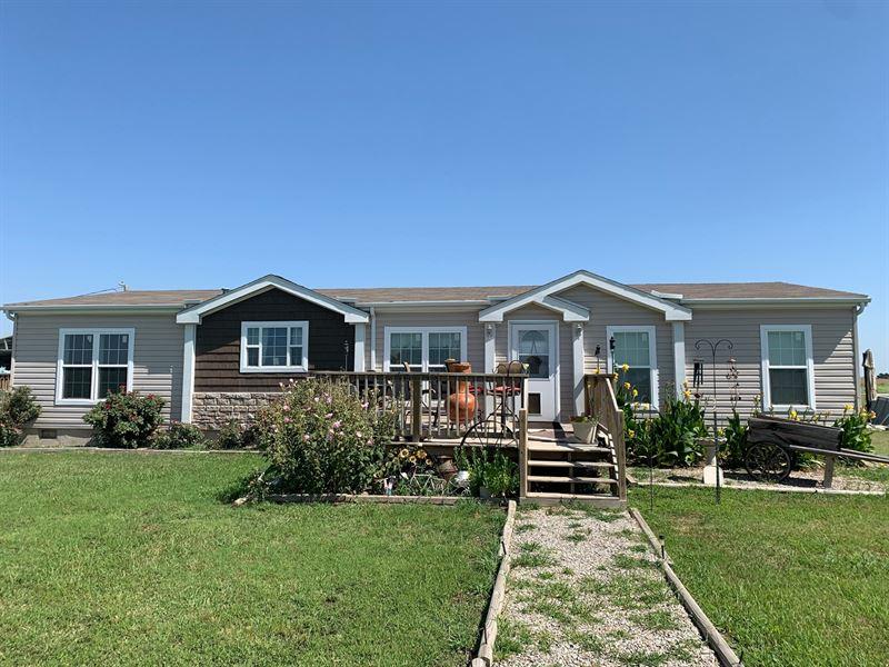 Country Home 7.5 Acres West Ponca : Ponca City : Kay County : Oklahoma