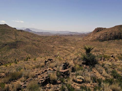 80 Acres, Rugged Terrain : Terlingua : Brewster County : Texas
