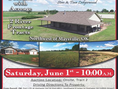 River Frontage Tracts : Maysville : Garvin County : Oklahoma