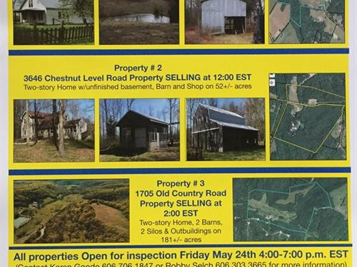 Auction, Triple Header : Liberty : Casey County : Kentucky