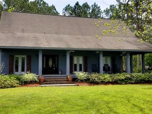 Acreage With Custom Built Home/Shop : Barney : Brooks County : Georgia
