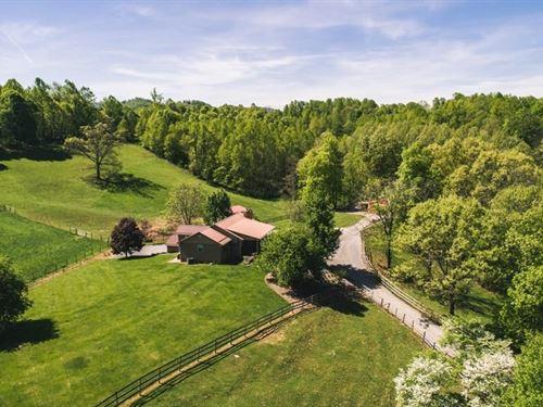 Updated Ranch Home Views Acreage : Abingdon : Washington County : Virginia