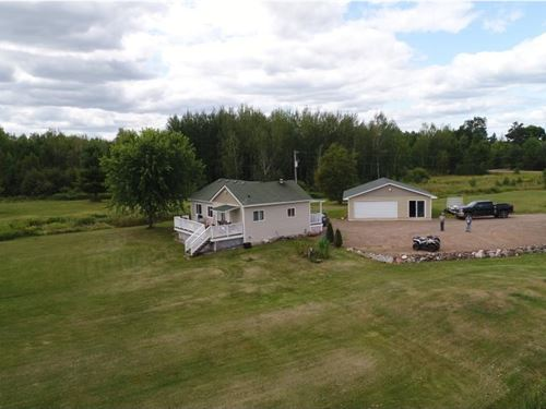 Home Cabin Acreage Lake Front, MN : Finlayson : Pine County : Minnesota