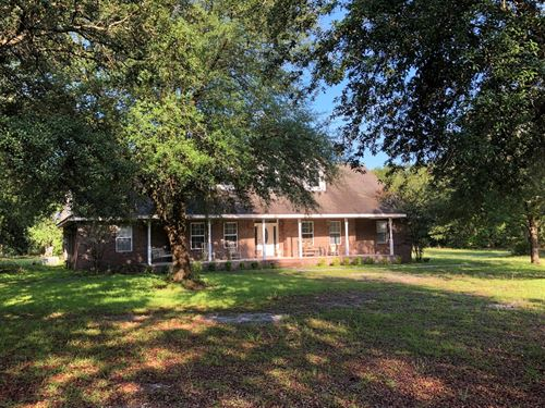 Florida Hunting Property Brick Home : White Springs : Columbia County : Florida