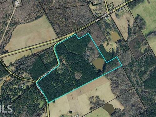 Acreage Level Gently Rolling, Lake : Monroe : Walton County : Georgia